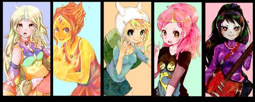 Adventure Time Girls by Pasuteru-Usagi