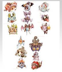 Halloween Pokemon by Pasuteru-Usagi