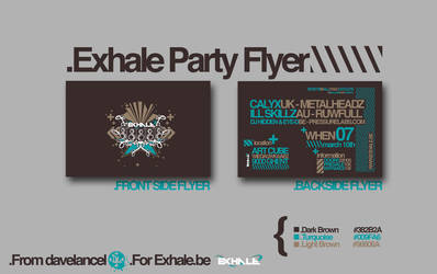 .Exhale Party Flyer by davelancel