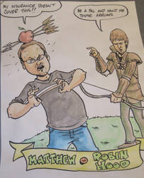 Cartoon portrait of me and Robin Hood by Mcjw2015