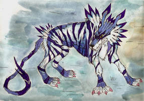 Garurumon by Aakarshan-Phoenix