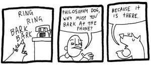 Philosophy Dog by DrSalt