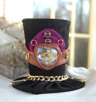 Tiny Top Hat: Steampunk Sweetheart w/Movable Veil by TinyTopHats