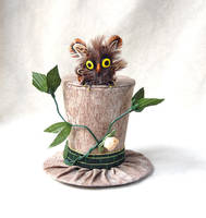 Tiny Top Hat: Garden Owl by TinyTopHats