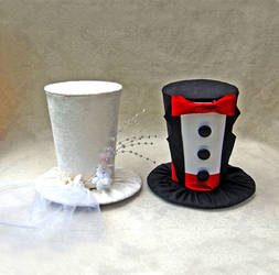 Tiny Top Hats: The Bride and Groom by TinyTopHats