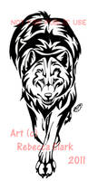 Walking Wolf Tattoo Commission by InsaneRoman