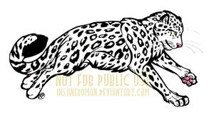 Leaping Snow Leopard Design Commission by InsaneRoman