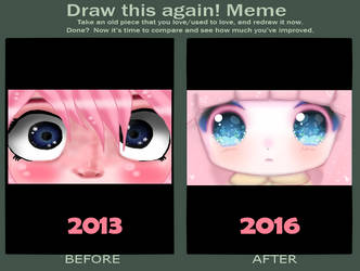 [Draw this again meme] Hell eyes by TakyHime