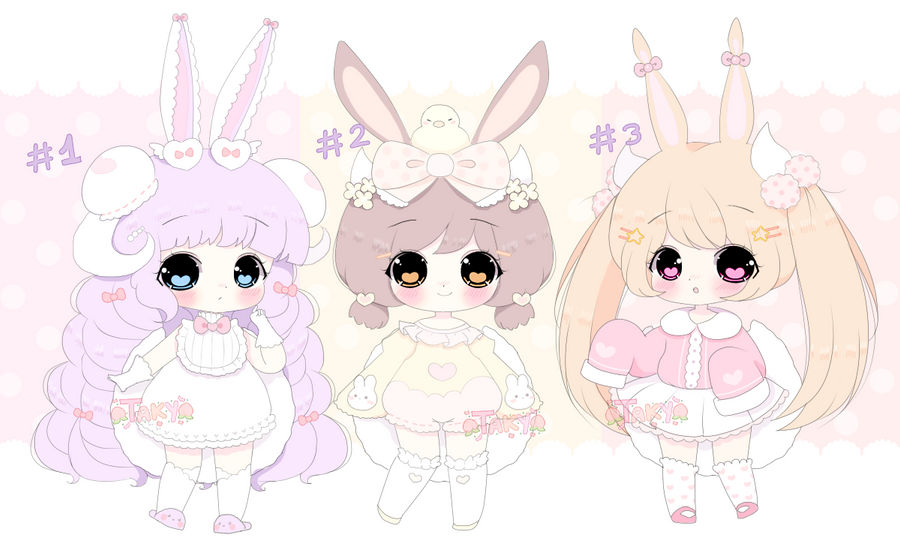 [SOLD TY!] Bunny Touffyterus Auction by TakyHime