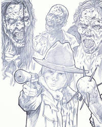 Carl from the walking dead by jeffzombie37