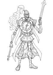 Clock Knight by SILENT-INKER