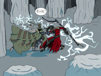 Gredd Fight (colored shading test finished) by SILENT-INKER