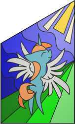 Canterlot Cathedral left stained glass window by TheCatkitty