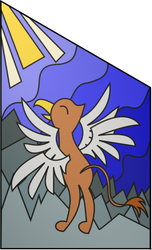 Canterlot Cathedral right stained glass window by TheCatkitty