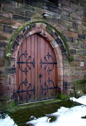 Church Door 2 by Ravven-Stock