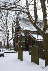 Graveyard and Snow 3 by Ravven-Stock