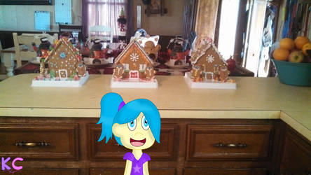 Margaret's Joy with the gingerbread houses! by KatieCandy