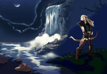 Moon elf request by slinkyonion