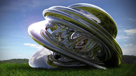 Chrome sculpture Wallpaper by slinkyonion