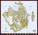 Worldmap of Caeruin by Quabbe