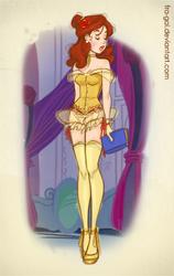 Disney Boudoir: Belle by fra-gai