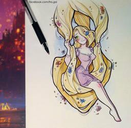 Inktober: Rapunzel by fra-gai