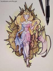 Inktober: Aurora by fra-gai