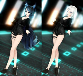 [MMD] PREVIEW (Finished) Tda Dark Forest Rin by MiraiNoir