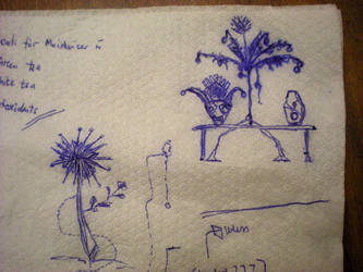 napkin doodle by assignation