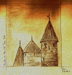 Turrets on the Old Town Wall by assignation