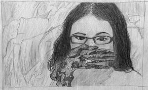Self-Portrait, Black Glove by assignation