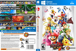 Super Smash Flash 2 Beta - Box Art by RaytheFox2012
