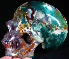 Indian Agate Skull 001e by SKULLKRAFT