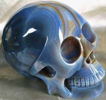 Blue Agate Skull 001b by SKULLKRAFT