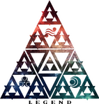LOZ Triforce Legend Galaxy Design by Enlightenup23