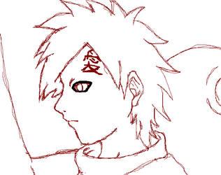Gaara Sketch by VirusMetalGarurumon