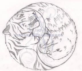 Tiger Eagle Tattoo by VirusMetalGarurumon
