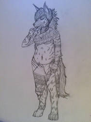 Striped Hyena by VirusMetalGarurumon
