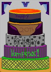 Vampexx Birthday Cake by Rejuv1n8edChr0nic9l