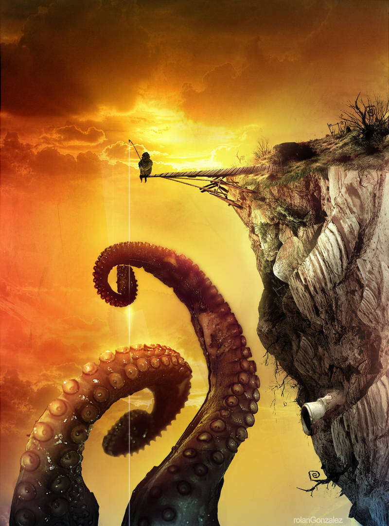 The fisherman of Giant Octopus by riolcrt