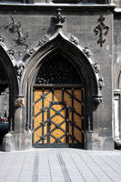 Munich: Medieval castle door by barefootliam-stock