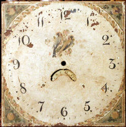 Antique French clock face by barefootliam-stock