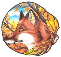 Autumn Fox - Aqua Brush by PoonieFox