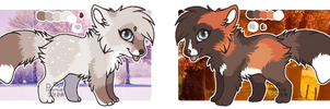 Adoptable Foxes - OPEN [1/2] by PoonieFox