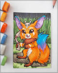 Gnar of the Game - ACEO Trade by PoonieFox