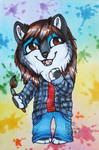 Painting Your Own Colours - ACEO Trade by PoonieFox