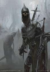Undead Knights by tithendar