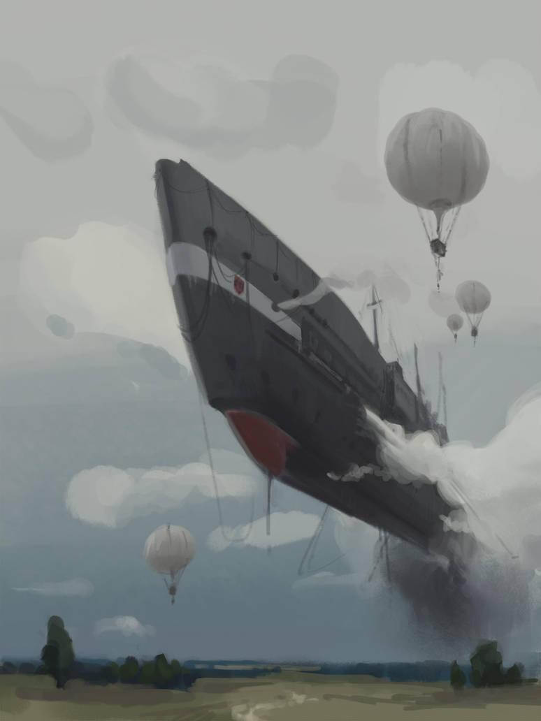 Airship by tithendar