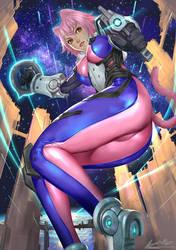 Space CatGirl by ariverkao