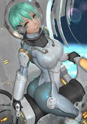 Space Girl by ariverkao